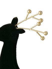 Deko-Hirsche Thalo in Schwarz, 2 Stück, Mitteldichte Holzfaserplatte, beschichtet, Schwarz, Goldfarben, Set mit verschiedenen Größen