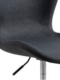 Bürodrehstuhl Batilda in Anthrazit, höhenverstellbar, Bezug: Stoff, Beine: Metall, pulverbeschichtet, Rollen: Kunststoff, Anthrazit, B 55 x T 54 cm
