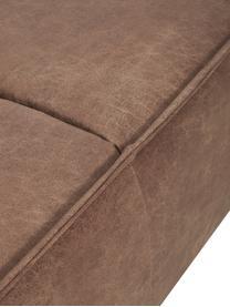 Leder-Sofa Abigail (3-Sitzer) in Braun mit Metall-Füßen, Bezug: Lederfaserstoff (70% Lede, Beine: Stahl, lackiert, Leder Braun, B 230 x T 95 cm