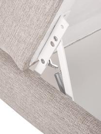 Sofa-Hocker Cucita in Beige mit Stauraum, Bezug: Webstoff (Polyester) Der , Gestell: Massives Kiefernholz, Füße: Metall, lackiert, Beige, 75 x 46 cm