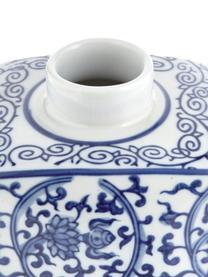 Porcelánová váza svíčkem Ella, Modrá, bílá