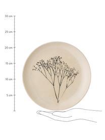 Ręcznie wykonany talerz śniadaniowy Bea, Kamionka, Beżowy, wielobarwny, Ø 22 cm