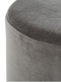 Pouf in velluto Haven, Rivestimento: velluto, Grigio, nero, Ø 38 x Alt. 45 cm