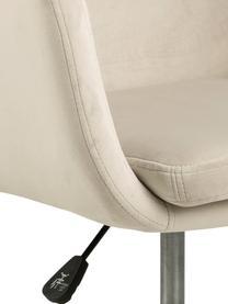 Sedia da ufficio girevole in velluto Nora, Rivestimento: poliestere (velluto) 25.0, Struttura: metallo verniciato a polv, Beige, nero, Larg. 58 x Prof. 58 cm