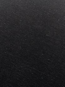 Einfarbige Bankauflage Panama in Schwarz, 50% Baumwolle, 45% Polyester, 5% andere Fasern, Schwarz, 48 x 120 cm