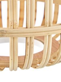 Pendelleuchte Adam aus Bambus, Weiß, Beige, 78 x 110 cm