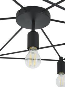 Duża lampa sufitowa Staiti, Czarny, Ø 76 x W 14 cm