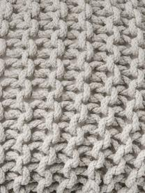 Pouf en tricot main Dori, Beige