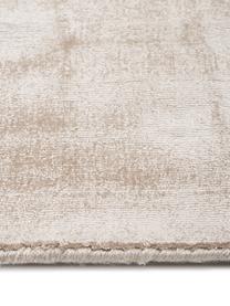 Ręcznie tkany chodnik z wiskozy Jane, Beżowy, S 80 x D 250 cm