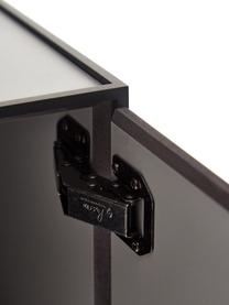 Table de chevet grise Frame, Structure et cadre: noir Corps: gris foncé