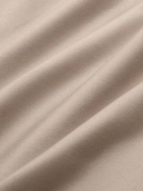 Katoensatijnen dekbedovertrek Premium in taupe met bies, Weeftechniek: satijn, licht glanzend, Taupe, 140 x 200 cm