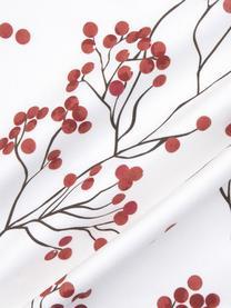 Housse de coussin Noël Berry, Rouge, noir, blanc