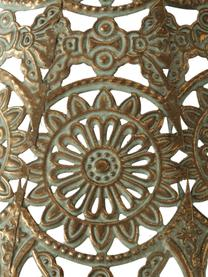 Windlicht Mauritius, Gecoat metaal, Goudkleurig met antieke afwerking, 22 x 35 cm