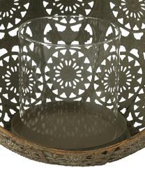 Portacandela Mauritius, Metallo rivestito, Dorato con  finitura antica, Larg. 22 x Alt. 35 cm