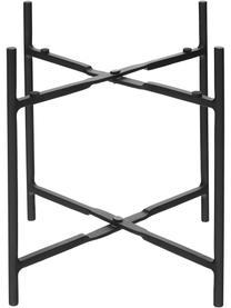 Komplet osłonek na doniczkę z metalu Mina, 2 elem., Metal, Czarny, matowy, Komplet z różnymi rozmiarami