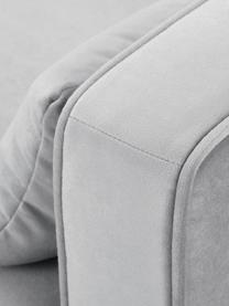 Poltrona classica in velluto grigio Alva, Rivestimento: velluto (copertura in pol, Struttura: legno di pino massiccio, Piedini: legno massello di faggio,, Velluto grigio, Larg. 102 x Alt. 92 cm