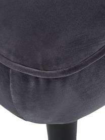 Samt-Schlafsofa Hayley in Grau mit Holz-Füßen, ausklappbar, Bezug: Samt (Polyester) Der hoch, Gestell: Kiefernholz, Füße: Kautschukholz, lackiert, Samt Grau, B 200 x T 89 cm