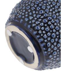 Keramische vaas Ozean, Keramiek, Blauw, Ø 15 x H 21 cm