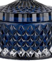 Opbergpot Miya, Glas, Blauw, goudkleurig, Ø 9 x H 11 cm