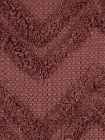 Kussenhoes Akesha, 100% katoen, Roodbruin, 45 x 45 cm