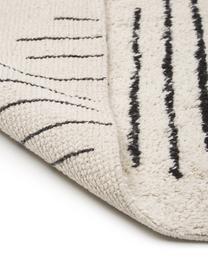 Tappeto in cotone beige/nero tessuto a mano Lines, 100% cotone, Beige, nero, Larg. 120 x Lung. 180 cm (taglia S)