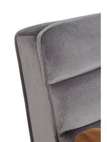 Poltrona grigia Octav, Rivestimento: velluto di poliestere, Gambe: metallo rivestito, Grigio, nero, marrone, Larg. 60 x Prof. 70 cm
