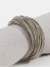 Ronds de serviette Kerala, 4pièces, Couleur argentée