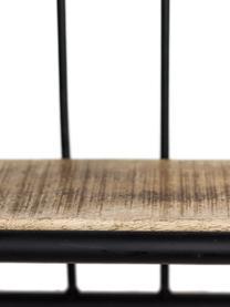 Wandregal Hilly im Industrial Design, Gestell: Metall, pulverbeschichtet, Braun, Schwarz, 50 x 50 cm