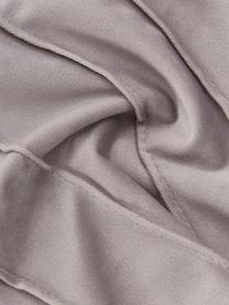 Fluwelen kussenhoes Leyla in lichtgrijs met structuurpatroon, Fluweel (100% polyester), Grijs, 40 x 40 cm