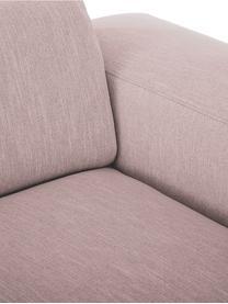 Bank Melva (3-zits) in roze, Bekleding: polyester, Frame: massief grenenhout, spaan, Poten: grenenhout De poten bevin, Geweven stof roze, B 240 x D 101 cm