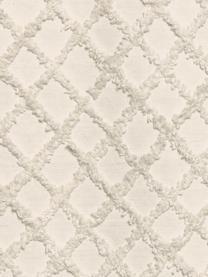 Narzuta z wypukłym wzorem Royal, Bawełna, Kremowobiały, S 240 x D 260 cm