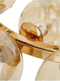 Runde Glaskugel-Pendelleuchte Splendor, Kupferfarben, Ø 58 x H 22 cm