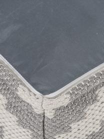 In- und Outdoor-Pouf Napua, Bezug: 100% recyceltes Polyester, Grau, Ecru, 40 x 40 cm
