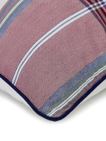 Pościel z perkalu Scarlet, Kremowobiały, czerwony, niebieski, 240 x 220 cm + 2 poduszki 80 x 80 cm