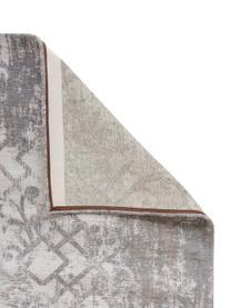 Tappeto vintage in ciniglia grigio-beige Babylon, Tessuto: Jacquard, Retro: Filato di ciniglia, rives, Grigio, beige, Larg. 170 x Lung. 240 cm (taglia M)