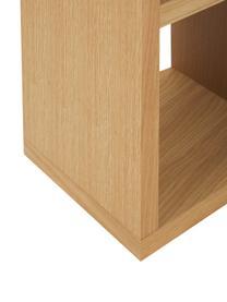 Regał na książki z z forniru z drewna dębowego Portlyn, Drewno dębowe, S 150 x W 198 cm