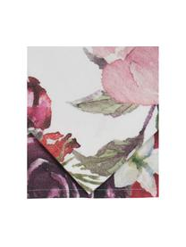 Runner in cotone con motivo floreale Florisia, 100% cotone, Rosa, bianco, viola, verde, Larg. 50 x Lung. 160 cm