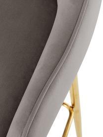 Samt-Barstuhl Ava in Taupe, Bezug: Samt (100% Polyester) Der, Samt Taupe, 48 x 107 cm
