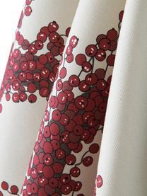 Strofinaccio in cotone Krans 2 pz, 100% cotone, da coltivazione sostenibile di cotone, Crema, tonalità rosse, Larg. 50 x Lung. 70 cm