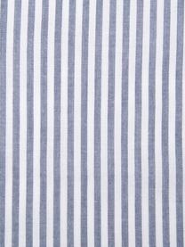 Pościel z bawełny Ellie, Biały, ciemnyniebieski, 135 x 200 cm