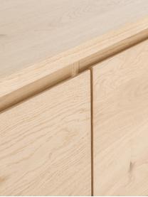 Sideboard Finn mit Türen und Eichenholzfurnier, Korpus: Mitteldichte Holzfaserpla, Eichenholz, 217 x 85 cm