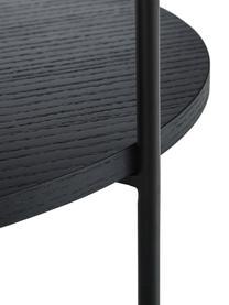 Mesa de centro con estante Renee, Tablero: fibras de densidad media , Estructura: metal con pintura en polv, Negro, Ø 69 x Al 39 cm