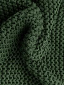 Strick-Kissenhülle Adalyn aus Bio-Baumwolle in Dunkelgrün, 100% Bio-Baumwolle, GOTS-zertifiziert, Grün, 30 x 50 cm