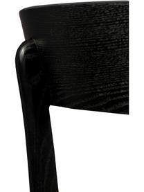 Krzesło z drewna i z siedziskiem z aksamitu Brandon, Tapicerka: 100% aksamit poliestrowy , Żółty, S 46 x G 45 cm