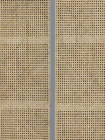 Credenza alta con intreccio viennese e ante scorrevoli Retro, Intreccio viennese: canna di zucchero, Grigio, beige, Larg. 95 x Alt. 140 cm