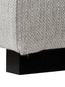 Grosses Ecksofa Tribeca, Bezug: Polyester Der hochwertige, Gestell: Massives Kiefernholz, Webstoff Beigegrau, B 315 x T 228 cm