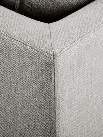 Divano angolare in tessuto grigio beige Tribeca, Rivestimento: poliestere Il rivestiment, Struttura: legno massiccio di pino, Piedini: legno massiccio di faggio, Tessuto grigio beige, Larg. 315 x Prof. 228 cm