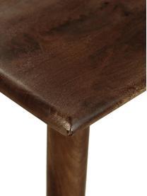 Massivholz Esstisch Oscar, Mangoholz massiv, lackiert, Dunkelbraun, B 180 x T 90 cm