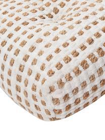 Boho-BodenkissenFiesta aus Baumwolle/Jute, Bezug: 55% Chindi-Baumwolle, 45%, Weiß, Beige, 60 x 13 cm