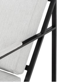 Komplet wypoczynkowy z metalową ramą Andy, 2 elem., Jasny szary, Komplet z różnymi rozmiarami